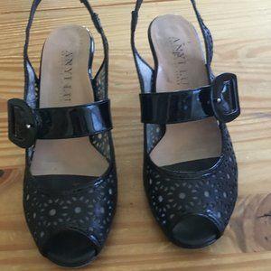 Anyi Lu  Peep Toe  Sling Back heels